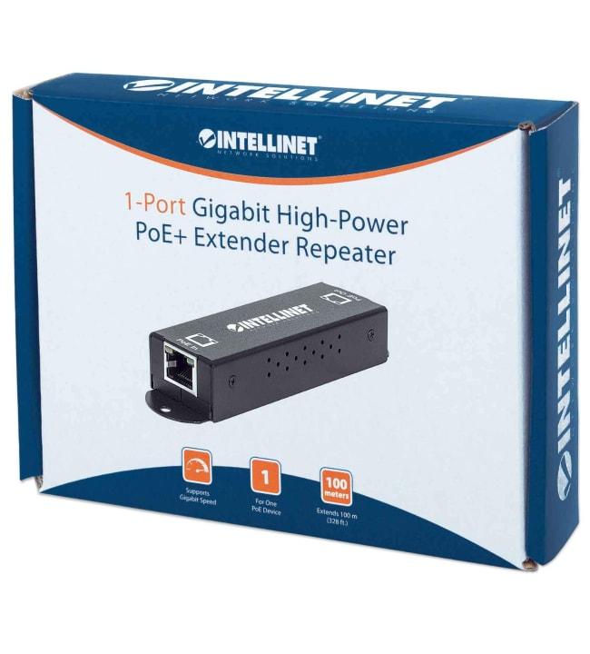 Intellinet Gigabit High-Power PoE+ Extender Repeater