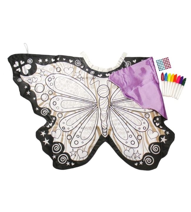 Väritettävä perhosviitta