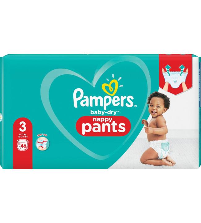 Pampers Baby Dry Pants S3 6-11 kg 46 kpl housuvaippa