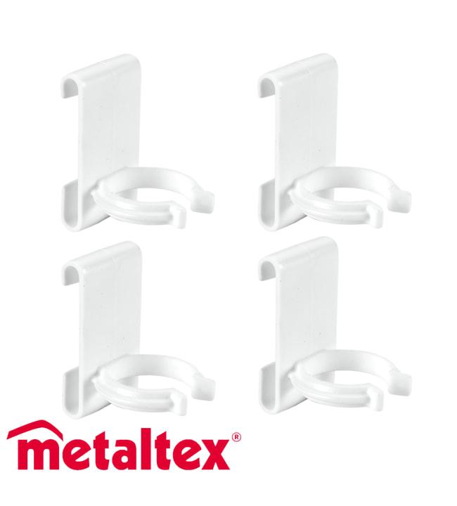 Metaltex Deko 4kpl Clip-on tuplakoukku