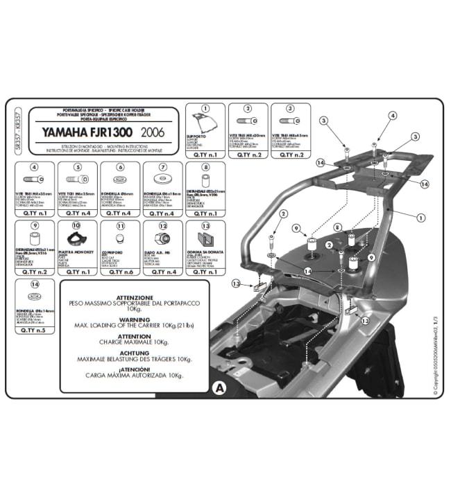 Givi SR357 Monokey peräteline