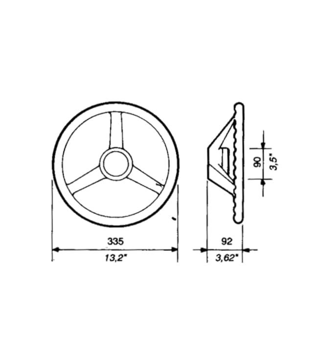 Ultraflex V-32N musta ohjauspyörä