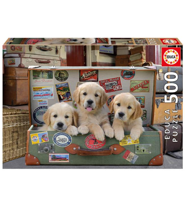 Educa Puppies in the Luggage 500p palapeli