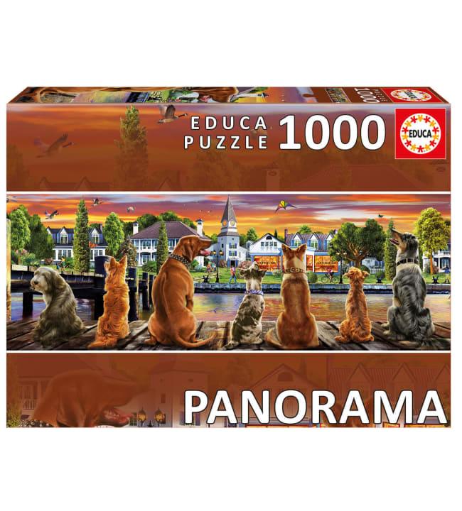 Educa Dogs on the Quay 1000p panorama palapeli