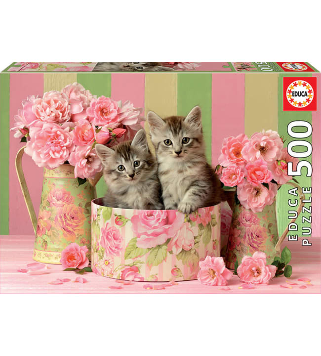 Educa Kittens With Roses 500p palapeli