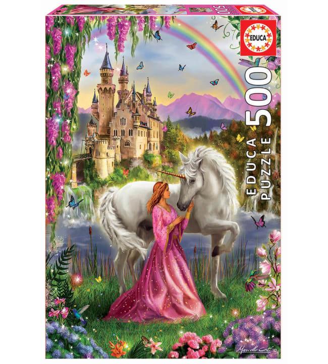 Educa Fairy and Unicorn 500p palapeli