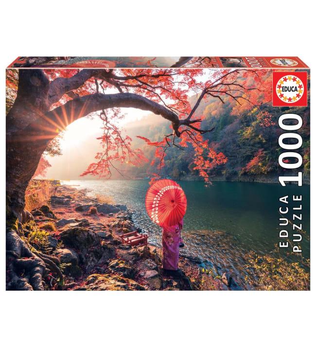 Educa Sunrise in Katsura River, Japan 1000p palapeli