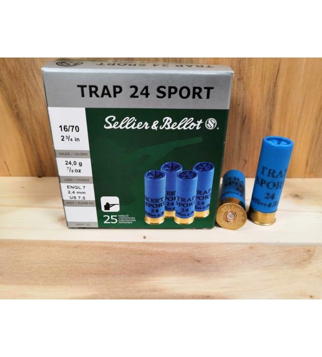 S&B 16/70 Trap 24 g 25 kpl patruuna