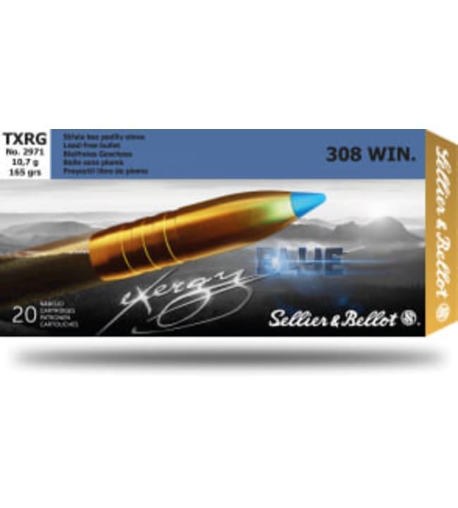 S&B .308 Win Exergy Blue 10,7g umpikupariluoti patruuna