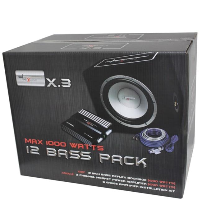 "Excalibur X.3 12"" bassopaketti (subwoofer, vahvistin ja kaapelit)"