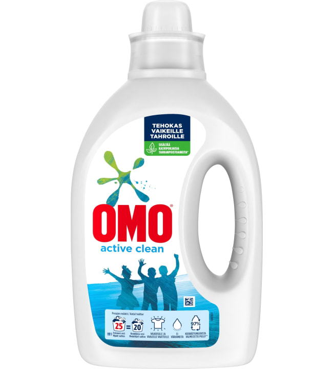 Omo Active Clean 1000 ml pyykinpesuneste