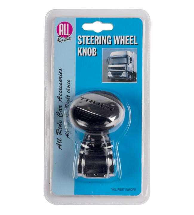 All Ride Truck musta / hopea ohjauspyörän nuppi