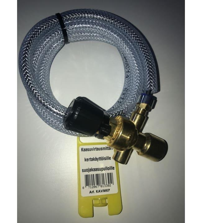 Palokärki kaasuvirtausmittari kertakäyttöpulloille