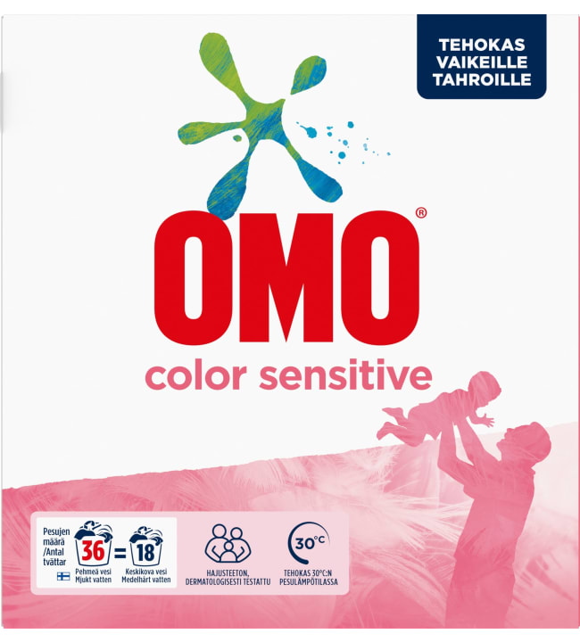 Omo Sensitive Color 1,26 kg pyykinpesujauhe