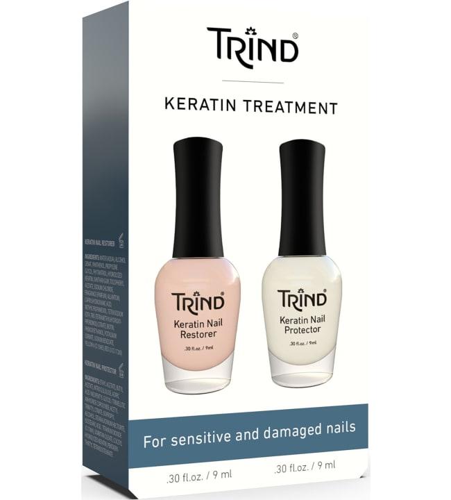 Trind Keratin Nail Restover & Nail Protector hoitosetti