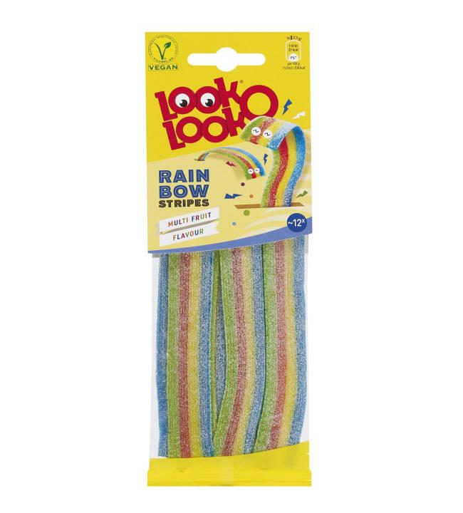 Look-O-Look Rainbow stripes 90 g viinikumimakeinen