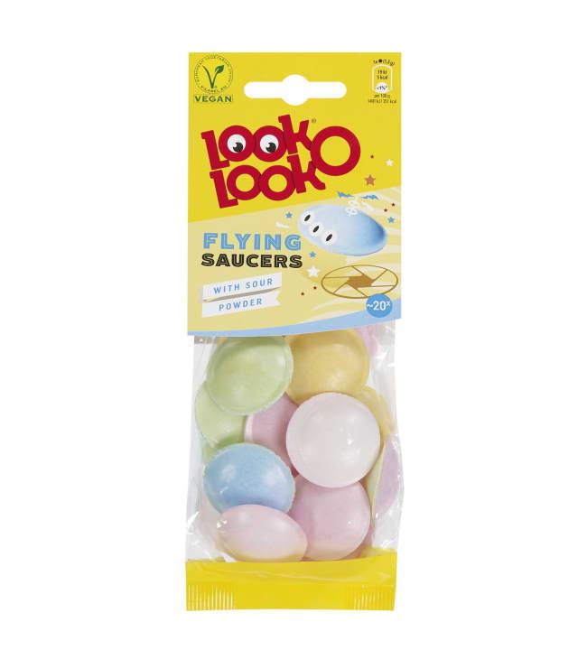 Look-O-Look Flying saucers 20 g jauhetäytteinen makeinen