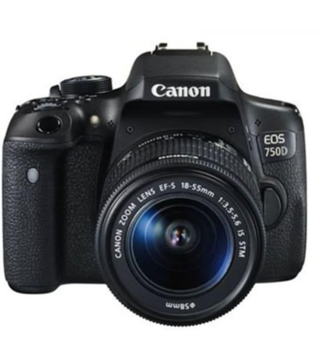 Canon EOS 750D+EF-S 18-55 IS STM järjestelmäkamera
