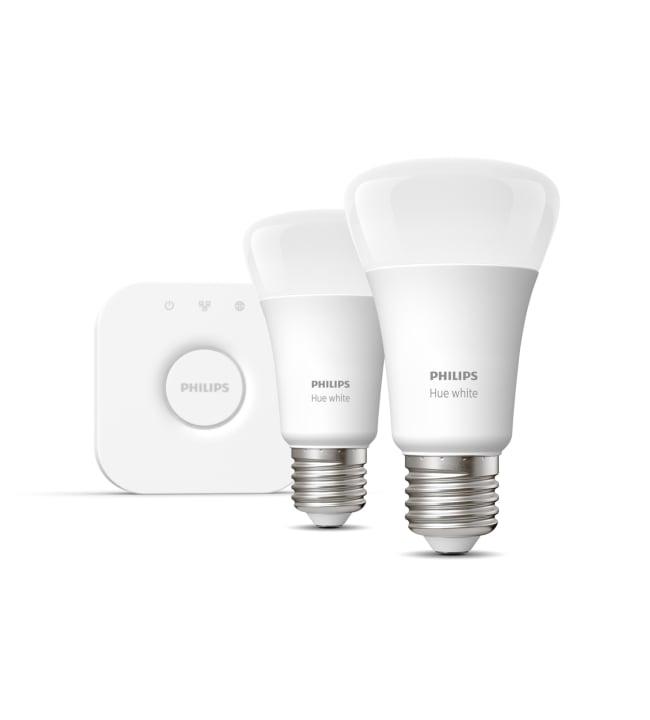 Philips Hue White E27 806lm 2kpl led-älylamppu aloituspakkaus