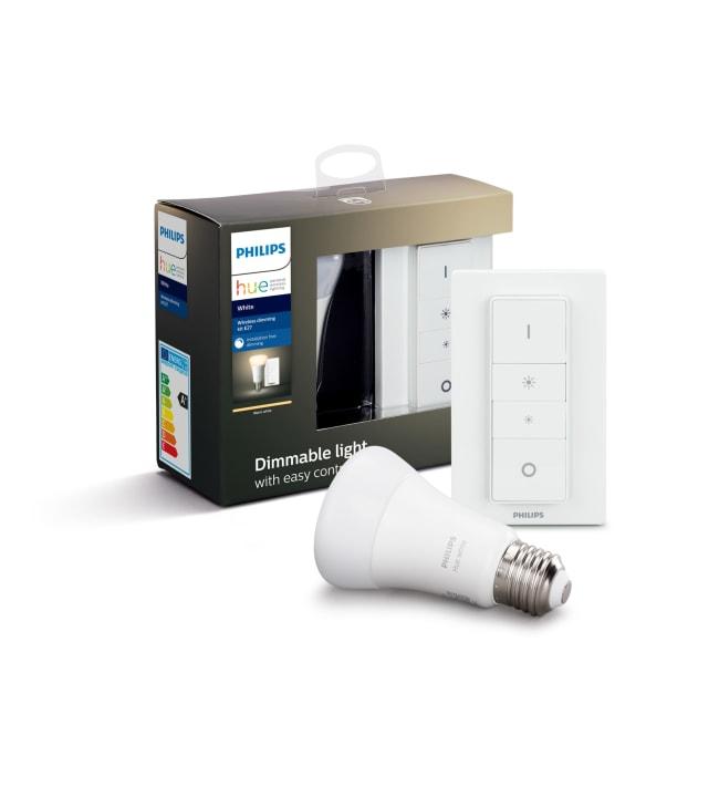 Philips Hue White E27 806lm led-älylamppu + langaton himmennin