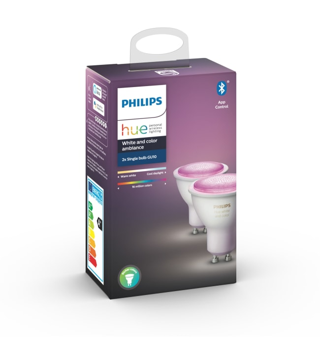 Philips Hue White and Color Ambiance GU10 350lm 2kpl led-älylamppu