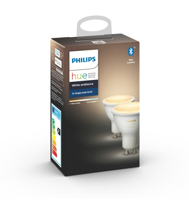 Philips Hue White Ambiance GU10 350lm 2kpl led-älylamppu