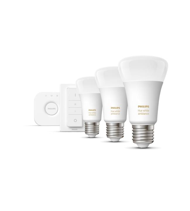 Philips Hue White Ambiance E27 806lm 3kpl led-älylamppu aloituspakkaus