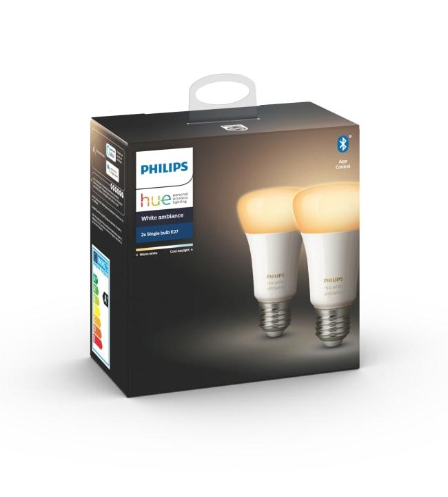 Philips Hue White Ambiance E27 806lm 2kpl led-älylamppu