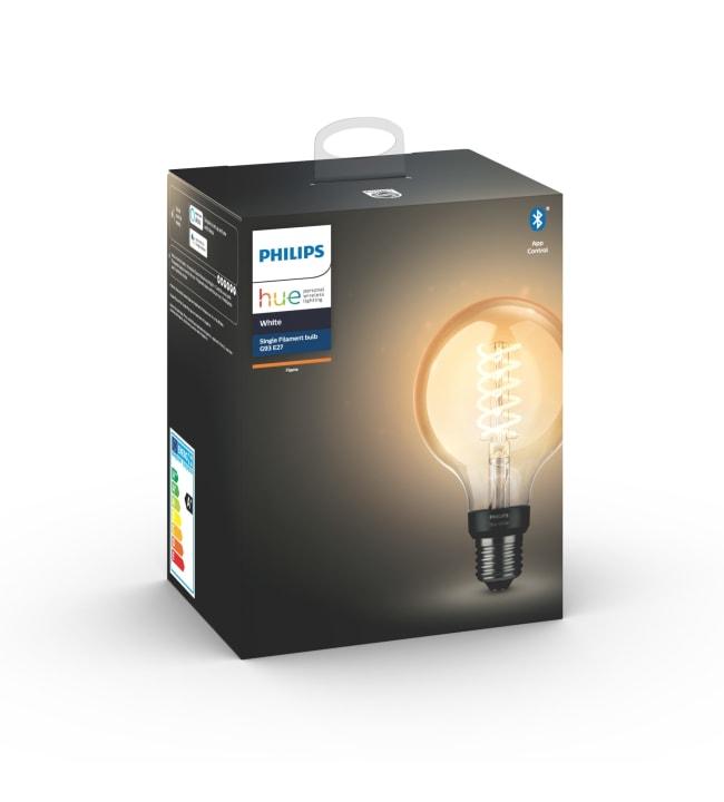 Philips Hue White E27 550lm filamentti G93 led-älylamppu