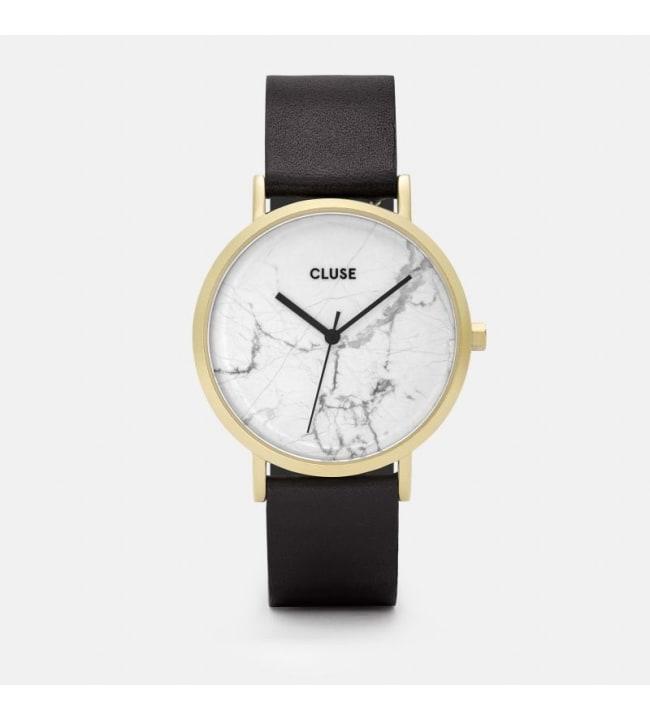 Cluse CL40003 La Roche Gold White Marble/Black Rannekello