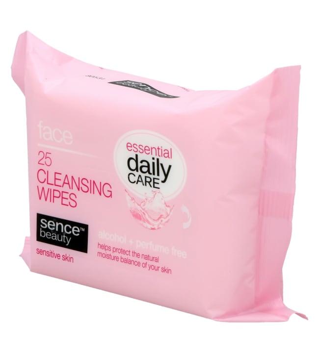 SenceBeauty Facial Cleansing Wipes Sensitive 25 kpl puhdistusliina