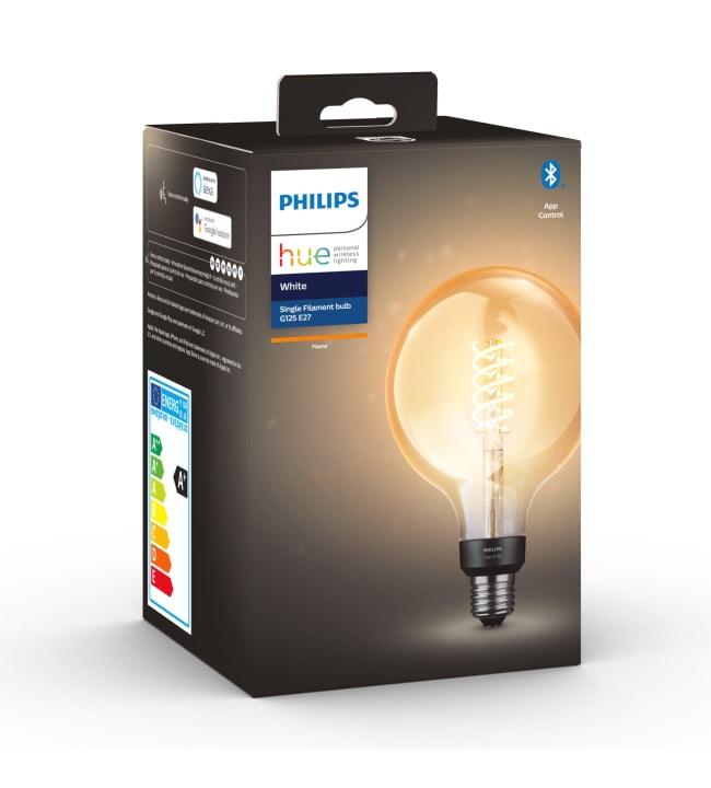 Philips Hue White E27 550lm filamentti G125 led-älylamppu