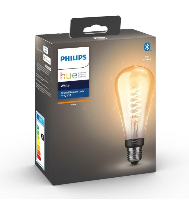 Philips Hue White E27 550lm filamentti ST72 led-älylamppu