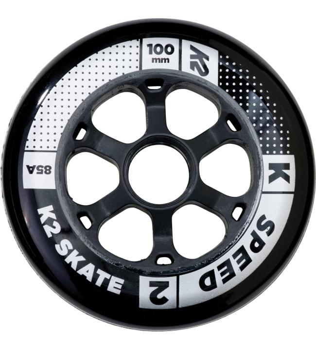 K2 100 mm Speed Wheel 4-Pack rengaspaketti