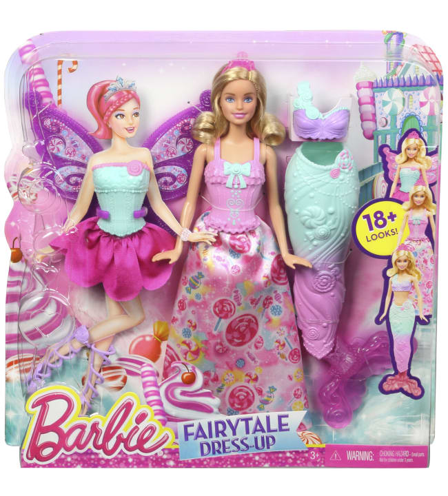 Barbie mix&match fairytale nukke ja asut