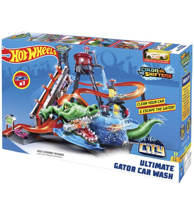 Hot Wheels Ultimate Gator Car Wash Playset autopesu