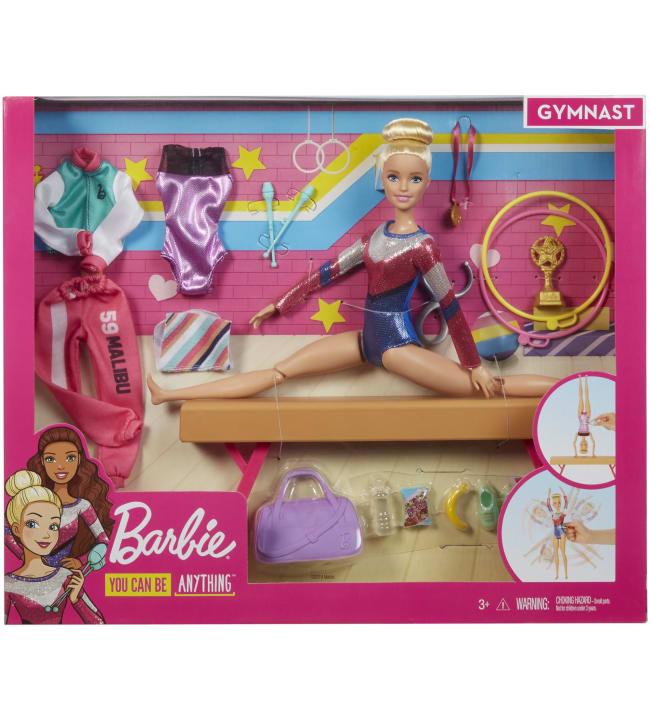 Barbie Gymnastics Playset nukke