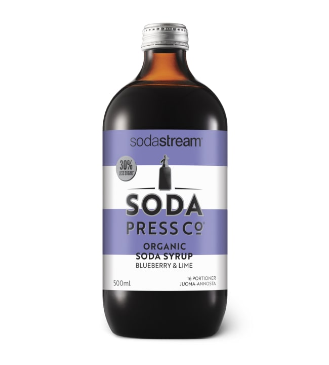 SodaStream Soda Press Blueberry & Lime luomu juomatiiviste