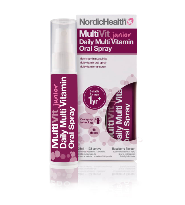 Nordic Health MultiVit Junior 25 ml lasten monivitamiini suusuihke