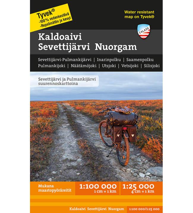 Calazo Kaldoaivi Sevettijärvi Nuorgam tunturikartta 1:100 000+1:25 000