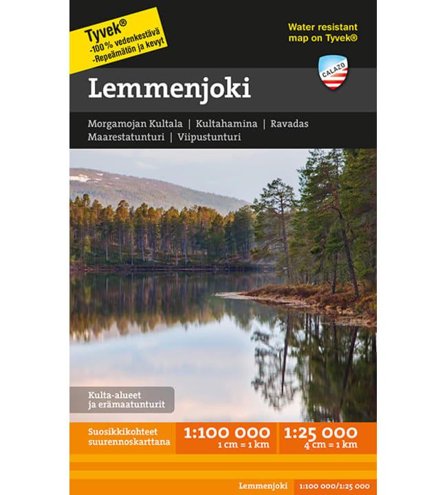 Calazo Lemmenjoki tunturikartta 1:100 000+1:25 000