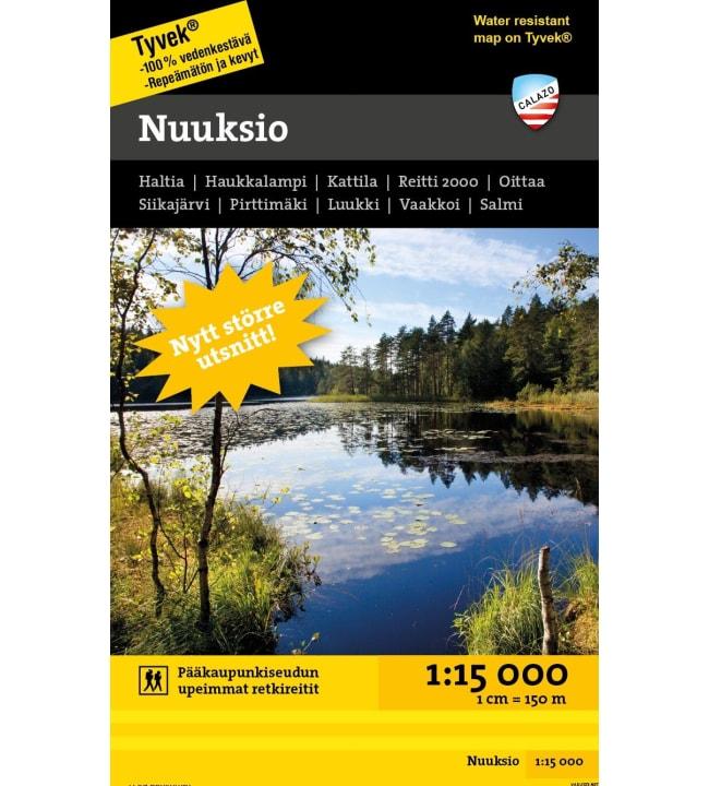 Calazo Nuuksio retkeilykartta 1:15  000