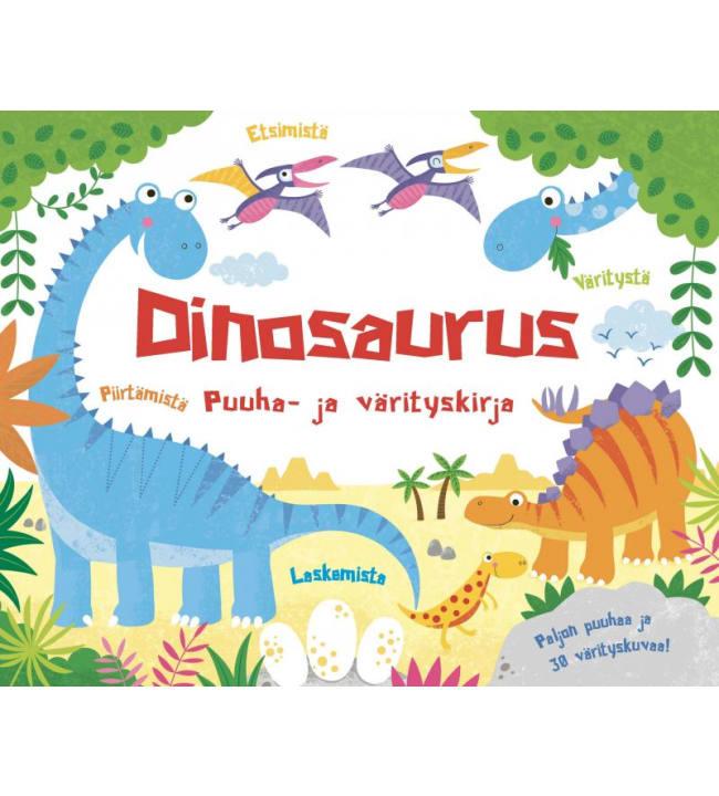 Dinosaurus puuha- ja värityskirja