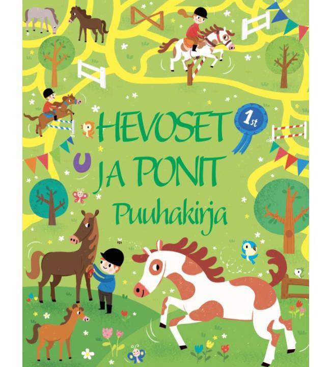 Hevoset ja Ponit puuha- ja värityskirja