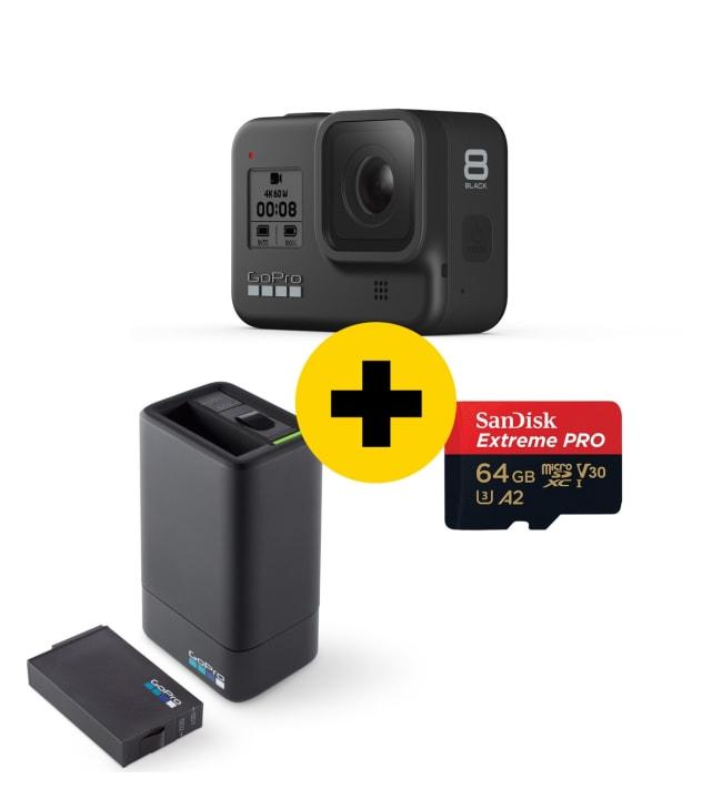 GoPro Hero8 + 64gb muistikortti + Akku ja laturi