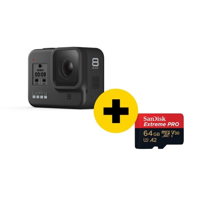 GoPro Hero8 black + 64gb muistikortti