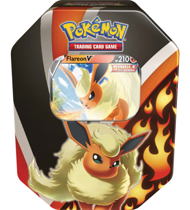 Pokemon V Tin -rasia Flareon/Jolteon/Vaporeon