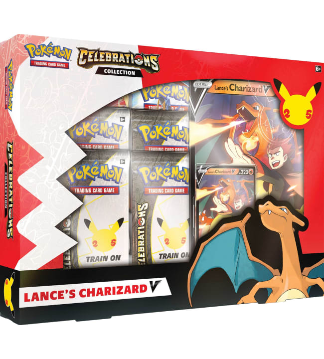 Pokemon V Box Celebrations Collection Lance's Charizard V/Dark Sylveon V