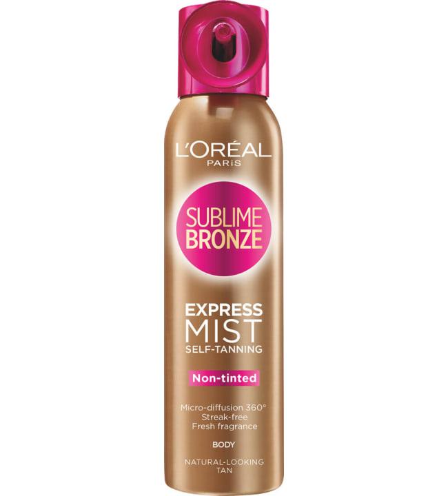 L'Oréal Paris Sublime Bronze Express Pro 150 ml itseruskettava kuivasumute