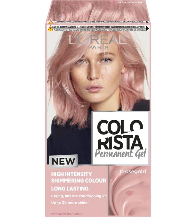 L'Oréal Paris Colorista Permanent Gel #Rosegold kestoväri
